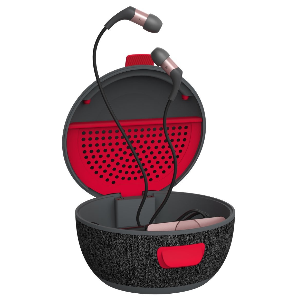 IFROGZ Cocoon Earbud Charging Case (Grey/Red)