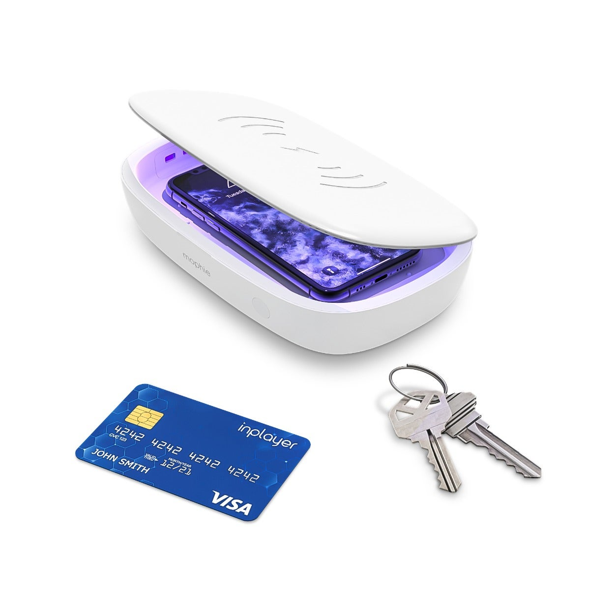 mophie UV Sanitizer with Wireless Charging (White)