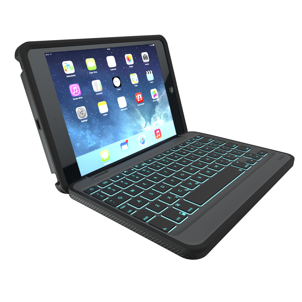 Rugged Book Case with Keyboard for the Apple iPad mini 2 3