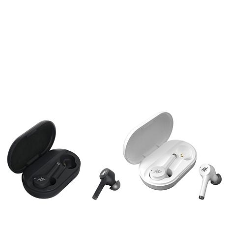 AIRTIME LUXE Truly Wireless Earbuds (Pearl White/Black-2Pack)