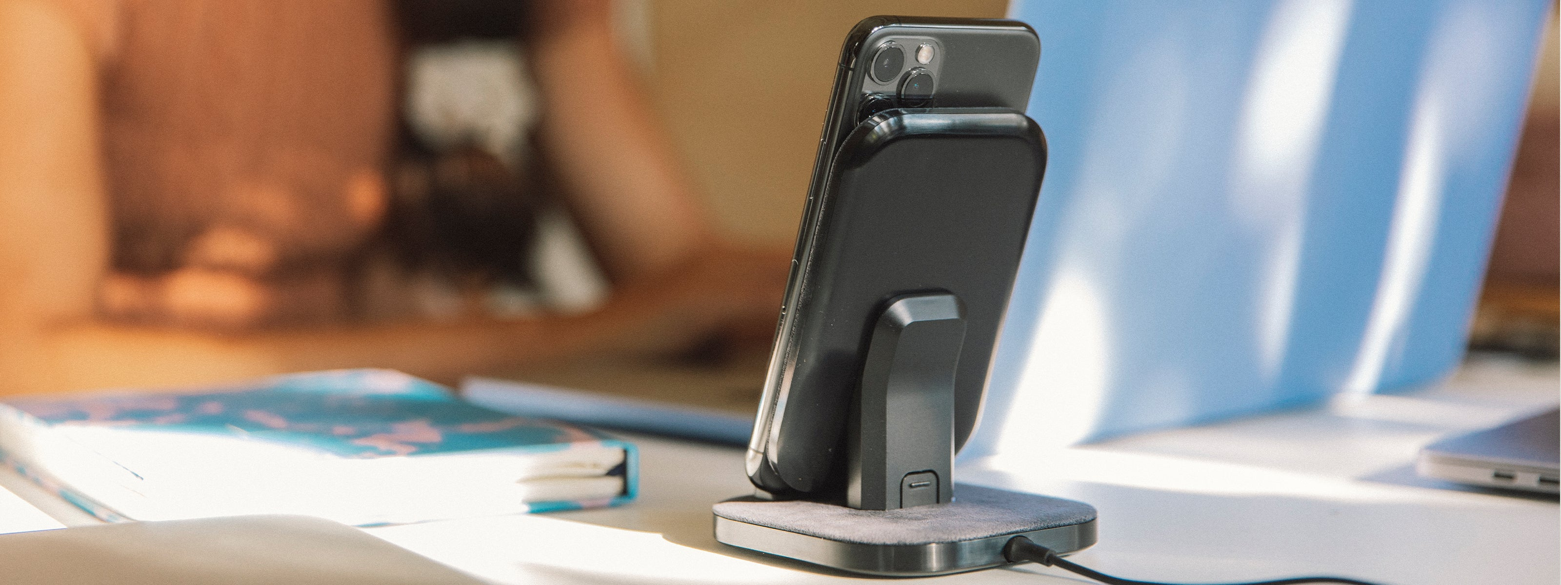 iPhone vertically charging