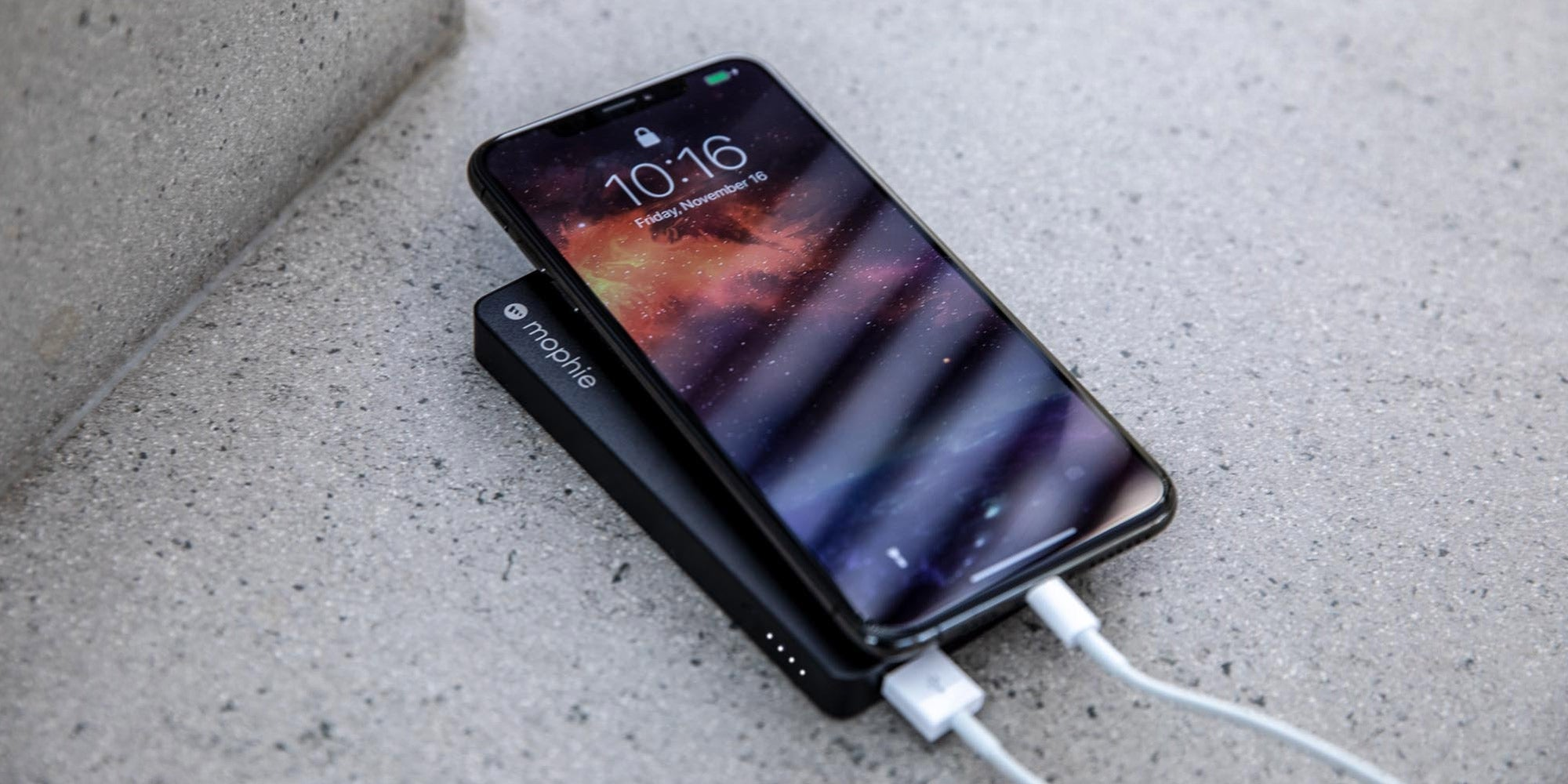 mophie powerstation charging a phone