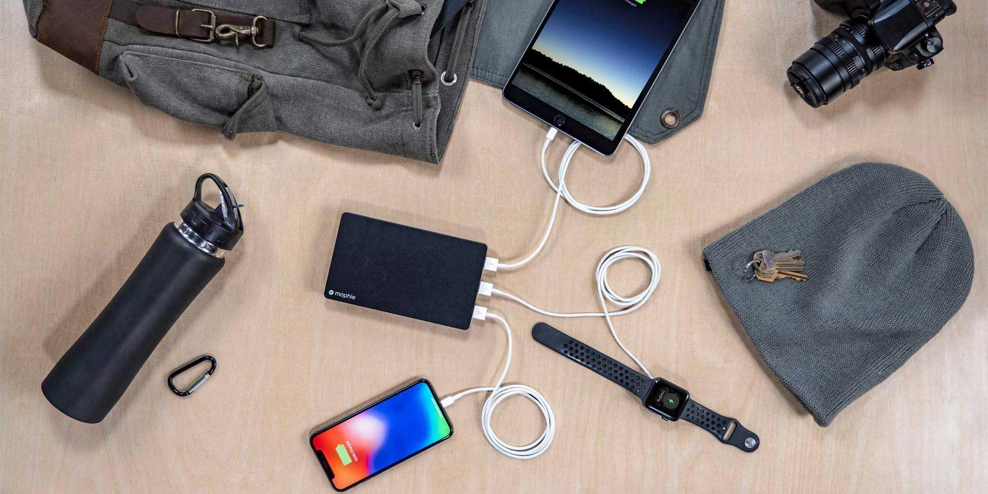 mophie powerstation XXL charging multiple devices