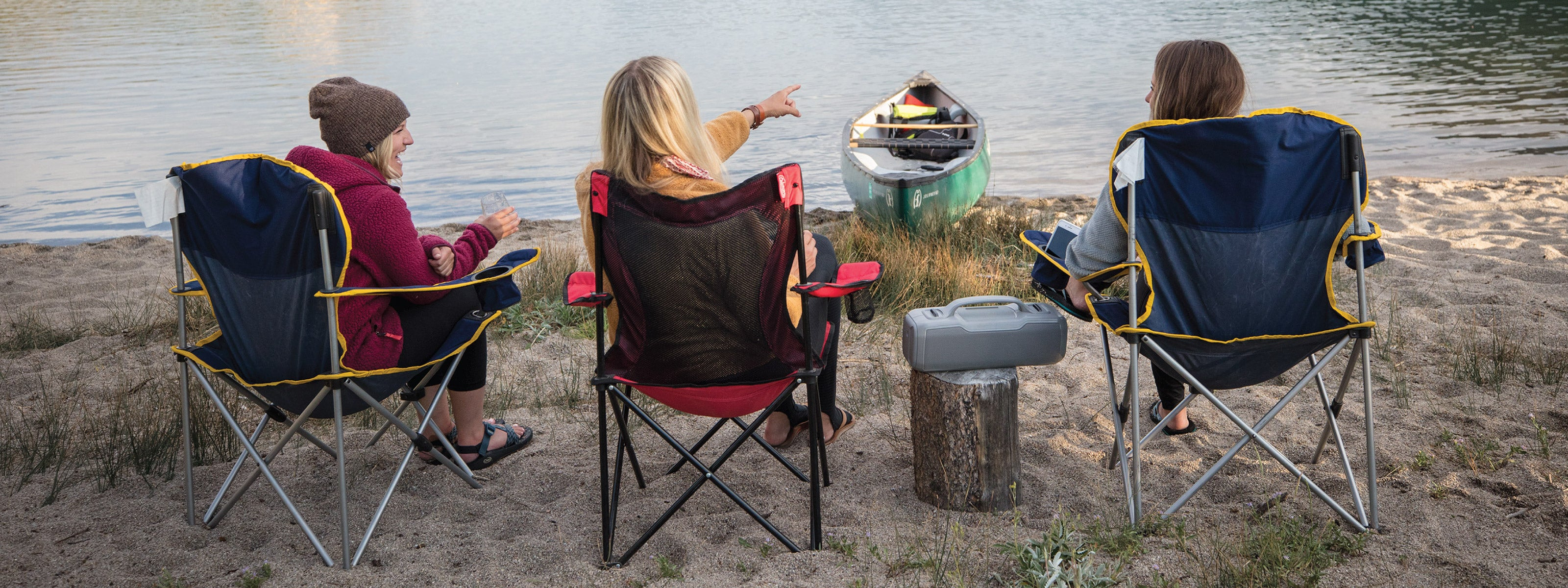 Group camping with speaker