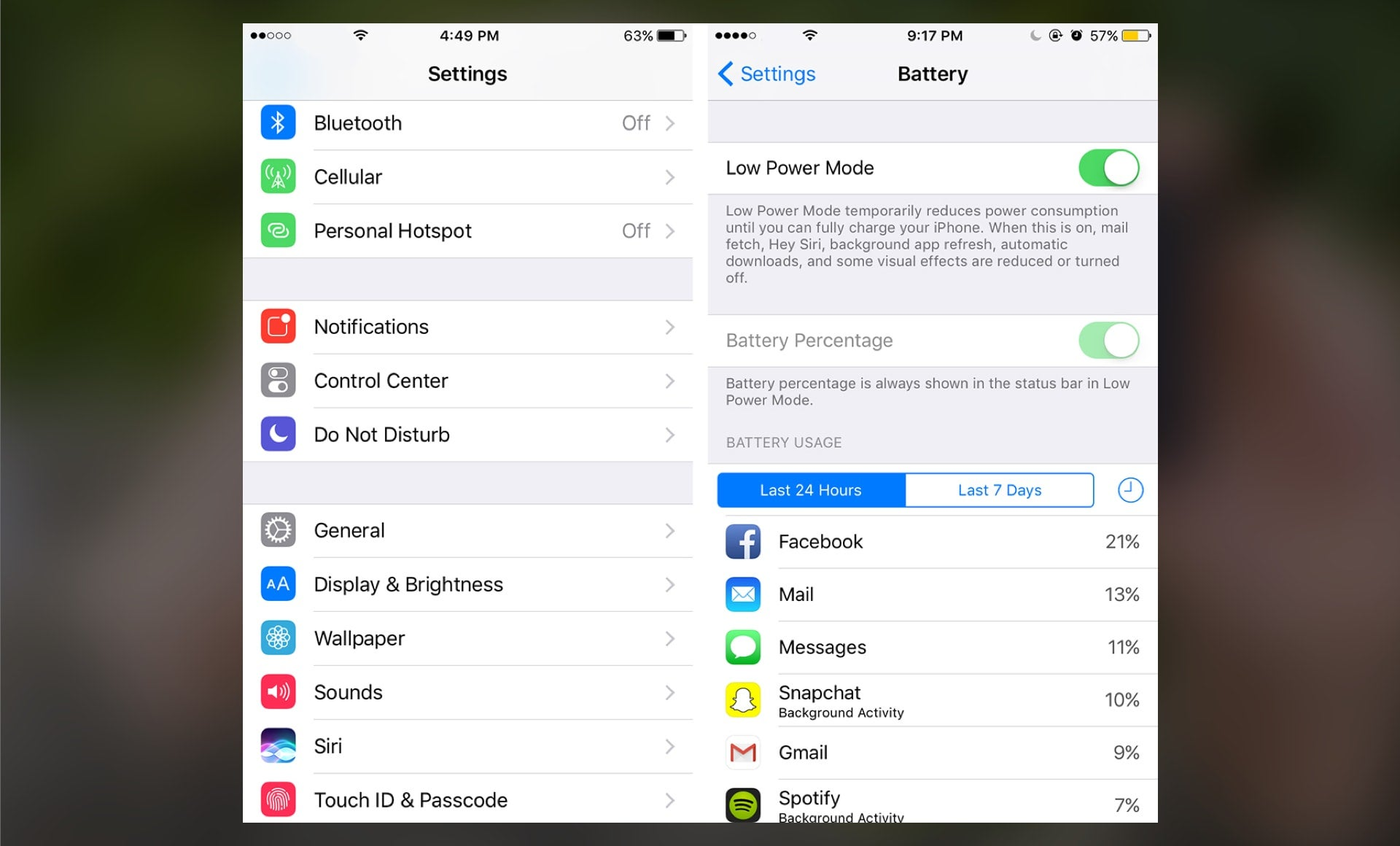Review App Battery Usage