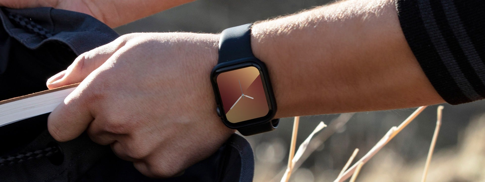 InvisibleShield screen protecting an Apple Watch