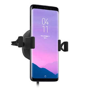 phone in a car mount